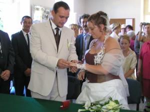 Mariage Emmanuel /Lise l'anneau