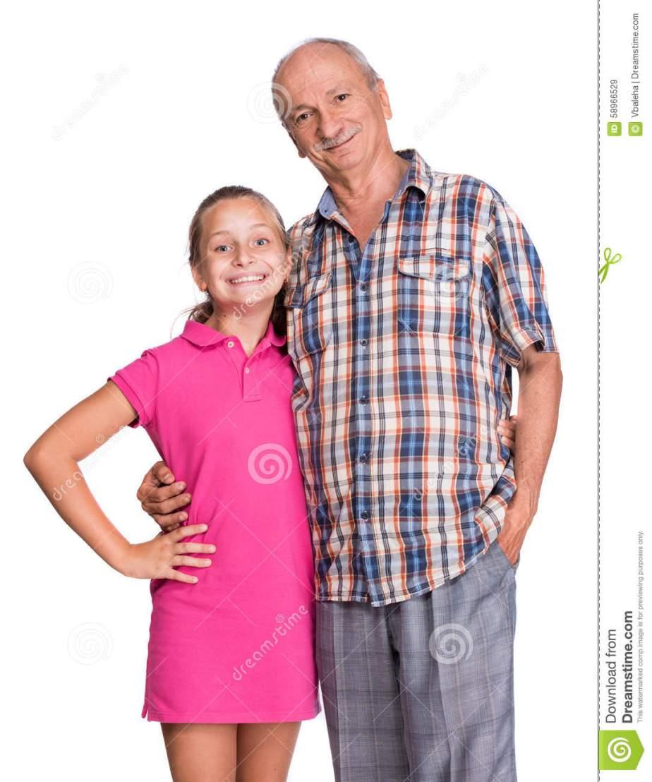 grand-père -petite fille