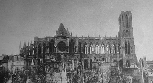 cathédrale Reimsbombarée