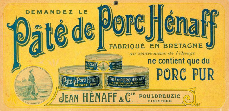 affichette Pâté Hénaff 1919