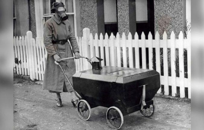 Poussette anti-gaz 1938